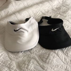 Pair of Nike Featherlight running visors